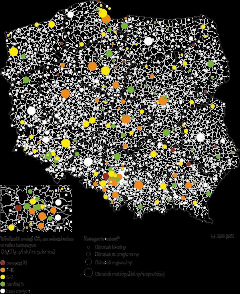 mapa_raport_niskoemisyjność_opm_irm_obserwatorium_polityki_miejskiej_atmoterm