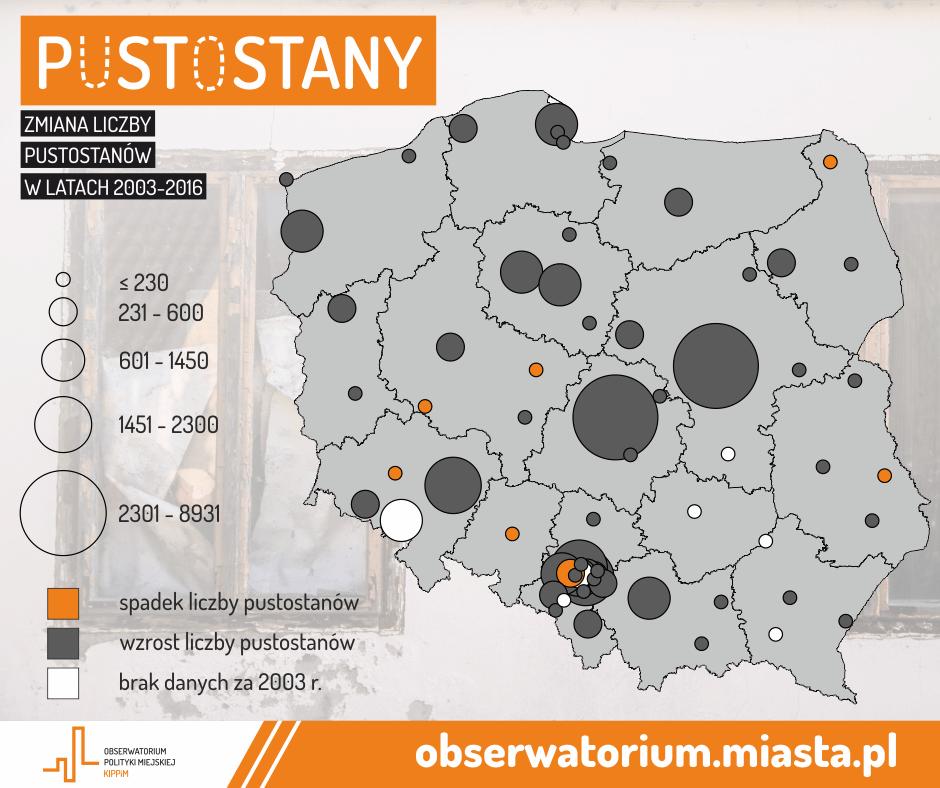 pustostany polska ile jest w miastach gdzie jest najwięcej pustostanów gdzie najmniej