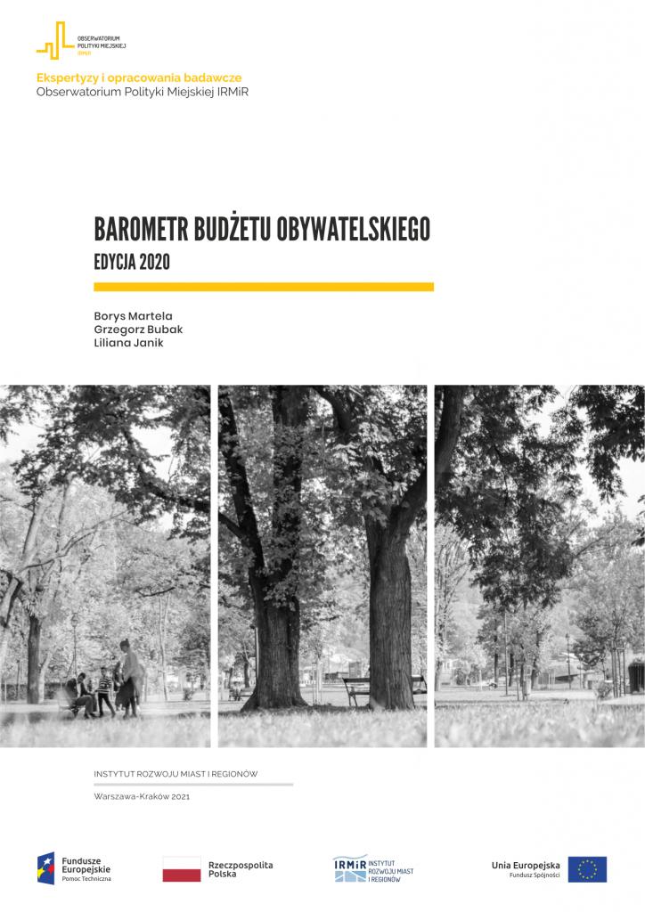 irmir-barometr budzetow obywatelskich-2020-obserwatorium polityki miejskiej-martela-bubak-janik